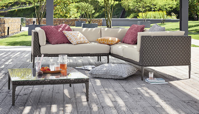 loungem bel aus geflecht edelstahl aluminium garpa. Black Bedroom Furniture Sets. Home Design Ideas