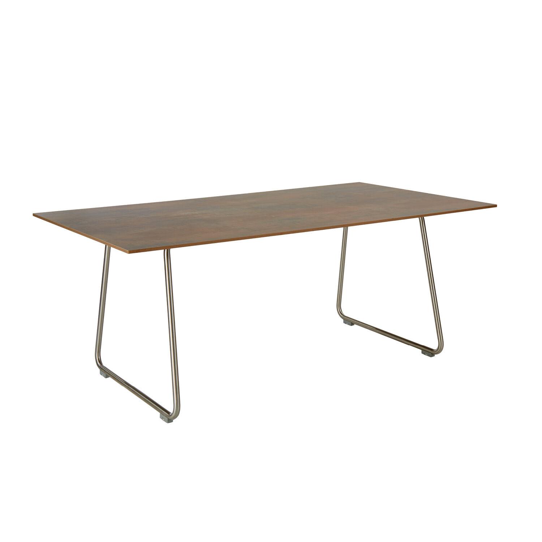 ronda kufentisch 180 x 100 kunstharz patina graubraun garpa. Black Bedroom Furniture Sets. Home Design Ideas