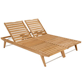 Doppia Lounger Set Teak