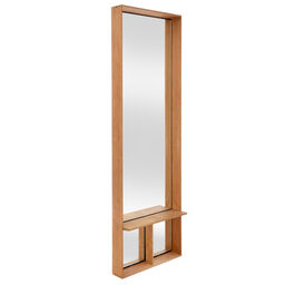 Fascino Mirror with teak frame, Vertical wide