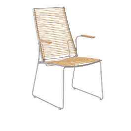Pan Highback Chair 60, Brown