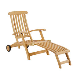 Royal Princess Deck Chair with wheels and extended footrest