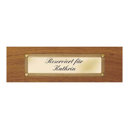 Engraved Brass Plaque