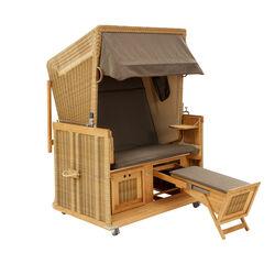 strandk rbe aus exklusivemteak und kunststoffgeflecht garpa. Black Bedroom Furniture Sets. Home Design Ideas